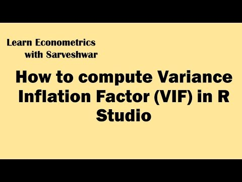 Computing Variance Inflation Factor VIF in R Studio