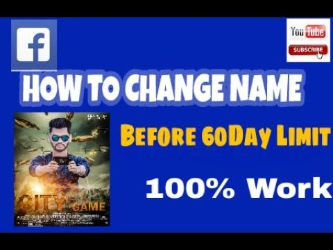 How to change your fb name without waiting 60day .....!!!!!
