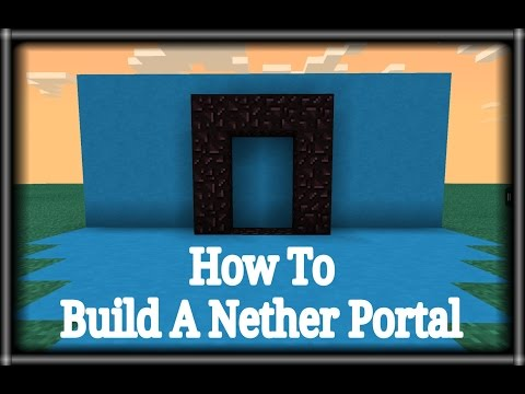 [0.9.5] Minecraft pe - How To Build A Nether Portal With A Lava,Water,And Cobbelstone TUTORIAL
