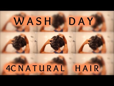 FULL WASH DAY ROUTINE | 4C NATURAL HAIR