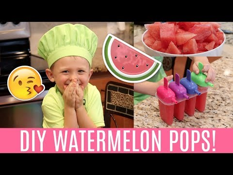 DIY Watermelon Popsicles! 🍉 (with Carson!)