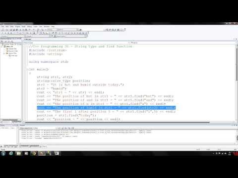 C++ Programming 30 - String find function