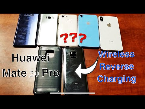 Huawei Mate 20 Pro: Reverse Wireless Charging w/ Different Phones & Cases On