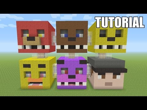 Minecraft Tutorial: How To Make A FIVE NIGHTS AT FREDDY'S!! Survival House / Apartment (ASH#45)
