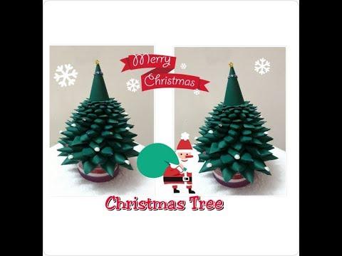 DIY Paper Christmas Tree /3D Xmas Tree/Tabletop Christmas Tree