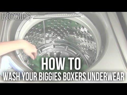 How To Wash Your Biggies Boxers Underwear