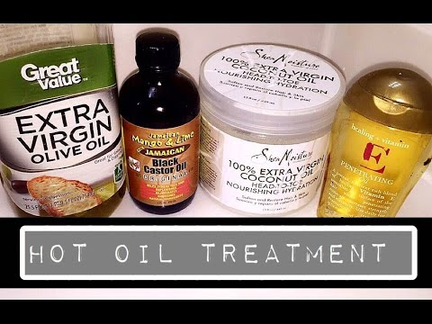 Hot oil treatment for dry natural hair | Homemade