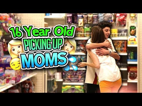 16 YEAR OLD TRIES TO PICK UP MOMS *it actually worked*