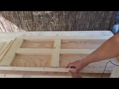 Making a four panel door for the playhouse