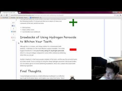 Hydrogen Peroxide Teeth Whitening Mouthwash