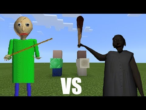 Baldi vs Granny | Minecraft PE