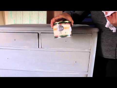 Clear Wax on Milk Paint Dresser