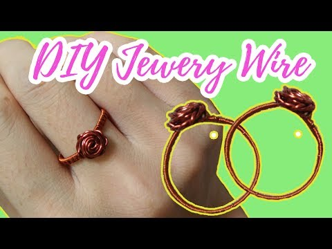DIY Jewelry Wire 🖤 How to make cute rose handmade ring with wire - by Chic Handi Home 🖤