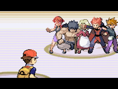 All Elite Four Battles!! [Pokemon LeafGreen]