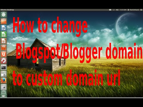 How to change Blogger/Blogger domain to custom domain URL