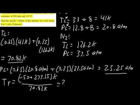Kay's Rule to calculate specific volume