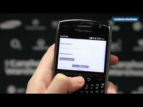 Accessing email and Facebook on Blackberry