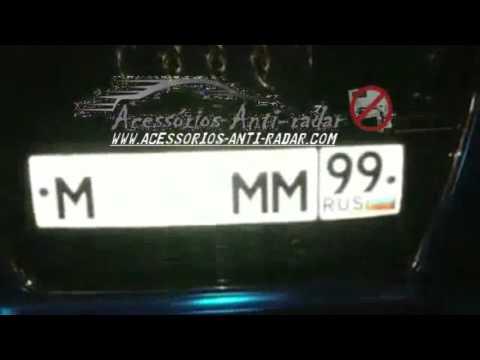 Anti photo radar red light camera license plate spray