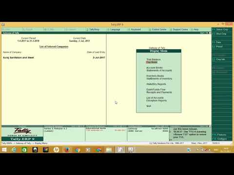 MERGE TWO COMPANY IN TALLY OR IMPORT LEDGER OR VOUCHERS IN SINGLE CLICK IN TALLY ERP9 6.2