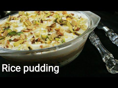Rice pudding - Pudding recipe - Layered rice pudinga recipe - Eggless pudding