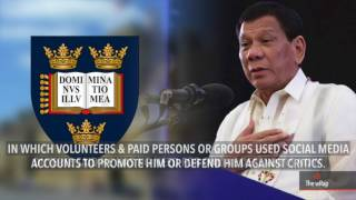 Duterte says online defenders, trolls hired only during campaign