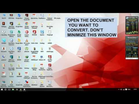 How to convert Scanned Document to Word