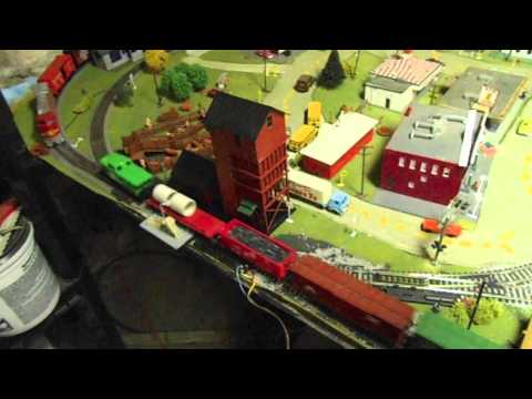 My 4x8 basement HO model railroad layout! (OLD)