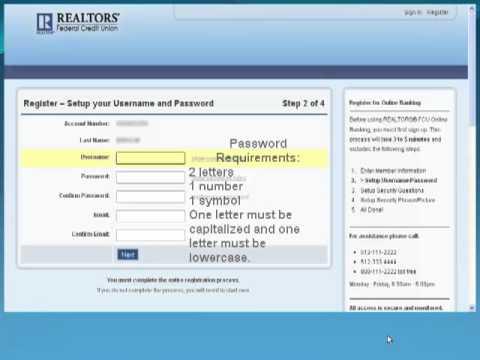 New Online Banking Registration Demo