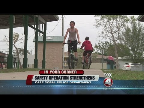 Cape Coral Police Department bicycle pedestrian crackdown