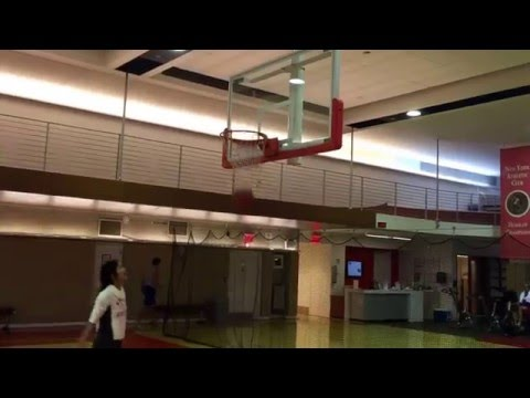 Playing basketball inside New York athlete Club ( NYAC)