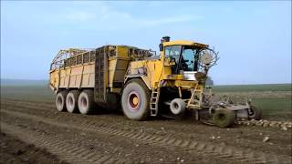 World Amazing Modern Agriculture Equipment and Mega Machines Sugar Beet Handling Tractor, Loader