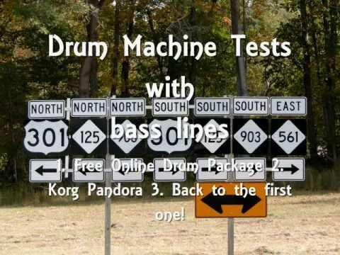 Drum Machine Sound Test  Free Software vs Pandora