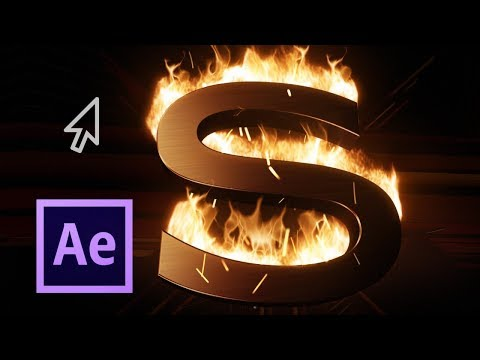 Simulate Fire on Logo with Particles TUTORIAL | Adobe After Effects