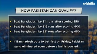 Can Pakistan still qualify for the semis? Cricbuzz Live has the answer