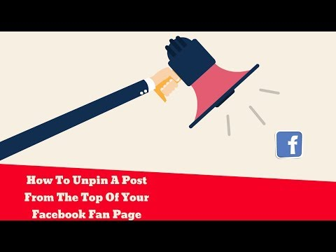 How To Unpin A Post From The Top Of Your Facebook Fan Page