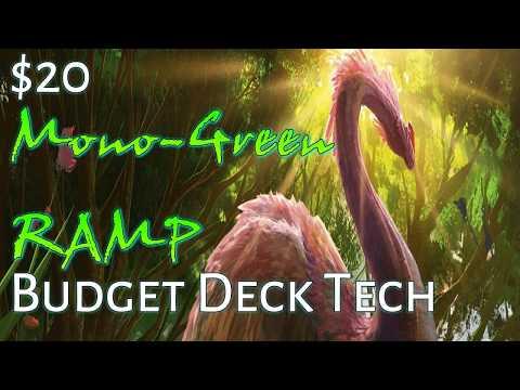Mtg Deck Tech: $20 Budget Mono Green Ramp in Ixalan Standard!