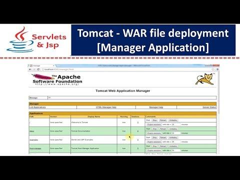 Tomcat - war file deployment [Manager Application]