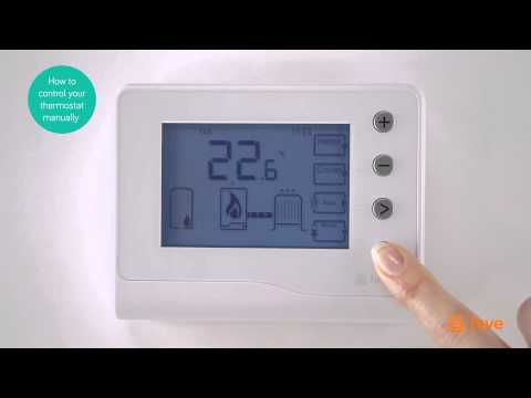 Hive - How To Control Your Thermostat Manually - Bord Gáis Energy