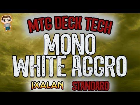 Mono White Aggro Deck Tech - Ixalan Standard MTG