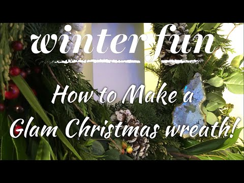 How to make a Fresh Cheap Christmas Wreath look super glam and expensive!!!