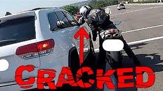 BIKERS SMASHING MIRRORS   CRAZY ROAD RAGE COMPILATION   [Ep. #127]