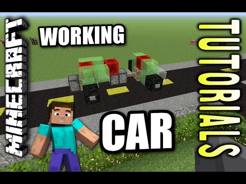 Minecraft PS4 - WORKING CAR - How To - Tutorial ( PS3 / XBOX )