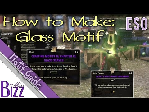 How To Make Glass Motif Pages in ESO - Elder Scrolls Online Glass Motif Guides - Fragments and Resin
