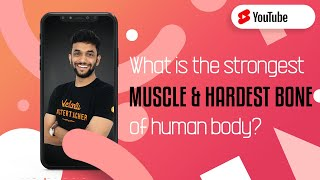 What is the Strongest Muscle 💪 and Hardest Bone of Human Body? #Shorts Amrit Sir   Vedantu 9 and 10