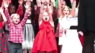 8-Year-Old Steals the Show During School Christmas Concert