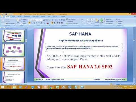SAP BW4HANA training videos for beginners