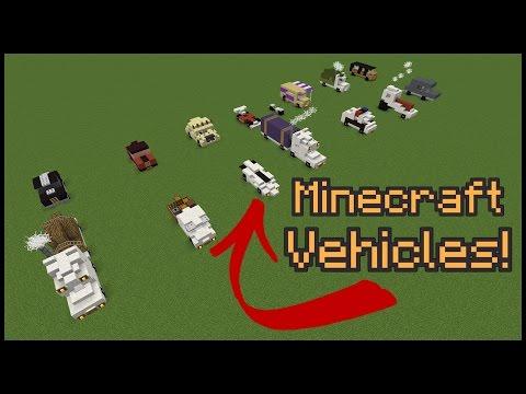 10+ Minecraft Vehicle Designs!