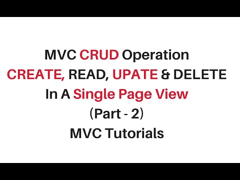 mvc crud operation using jquery json in a single view page c# 4.6 (part 2)