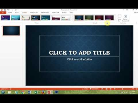 Microsoft PowerPoint 2013 How To Change Variants Or Colors Of A Theme
