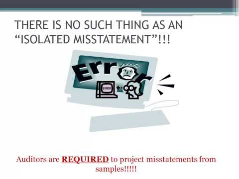 Isolated Misstatement and Documentation in Auditing